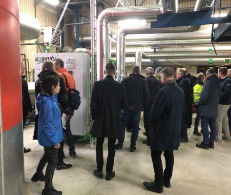 Stort intresse för nyinvigt kraftvärmeverk i Moheda